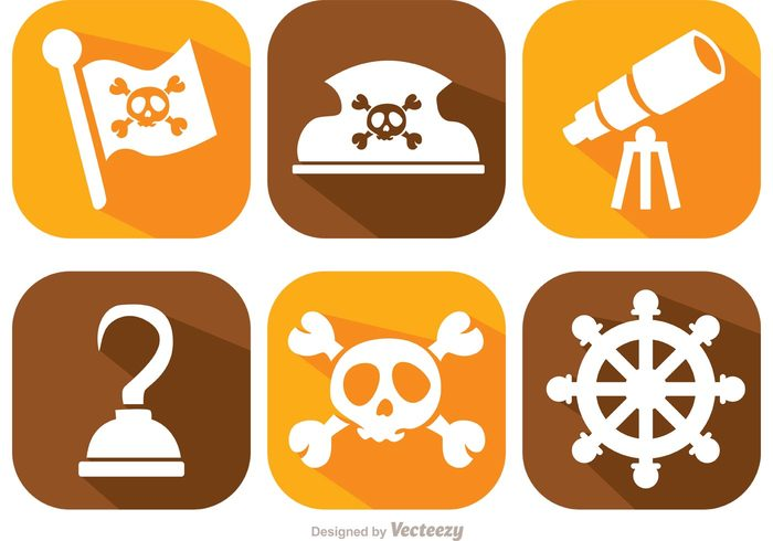 water telescope skull pirate ship Pirate flag pirate Outlaw old Jolly roger hook hat flag danger Criminal captain boat Adventure