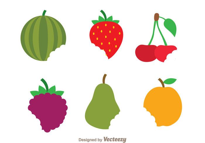 teeth strawberry pear orage mark grape fruits fruit fresh food flat eaten eat cherry bite marks bite mark Bite
