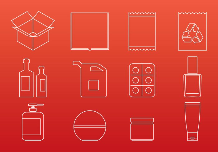 white water vector symbol supermarket store spray sign shopping shipping set reuse recycle product Parcel paper packing packaging package object mono milk medicine line juice isolated icons graphic goods gift food drug design delivery container case carton cardboard can box bottle black bag background