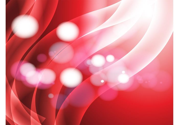 waves warm Twist tubes swoosh swirl strands shine red light Intense hot heat dots Cool backgrounds bright