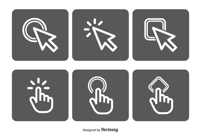 www vector icons vector token template symbol style stamp square sign shape set selection seal round quality press position pointer point pictogram mouse click mouse metro marker label illustration icons icon set icon graphic geometric flat Cursor icon cursor creative concept computer click circle button black background art arrow app