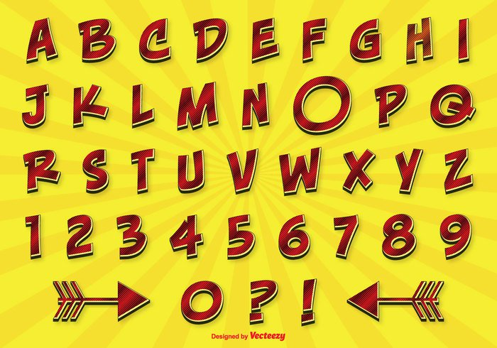 word vector typeset type text template symbols symbol stylized style sign shiny shadow set retro numbers letters letter isolated graphic gradient glossy fun alphabet fun font element design decorative cute comics comic alphabet color collection character Cartoon style calligraphy background art alphabet set alphabet abcd abc