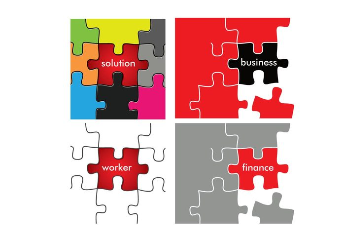 worker solution rgb red puzzle finance cmyk business black Backgrounds