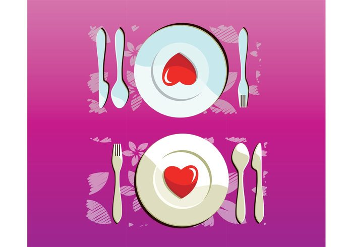 wedding valentine table spoon romance restaurant plate metal luxury lunch love knife hotel heart fork food eat dinner cutlery cooking cook