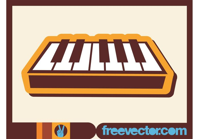 synthesizer sticker play musical instrument music logo keys keyboard icon concert band