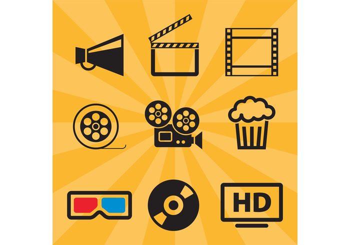 video tv tape Studio strip star show screen pop-corn Plasma pictogram multimedia movie motion image icon glasses film entertainment disc cinematography cinema animation