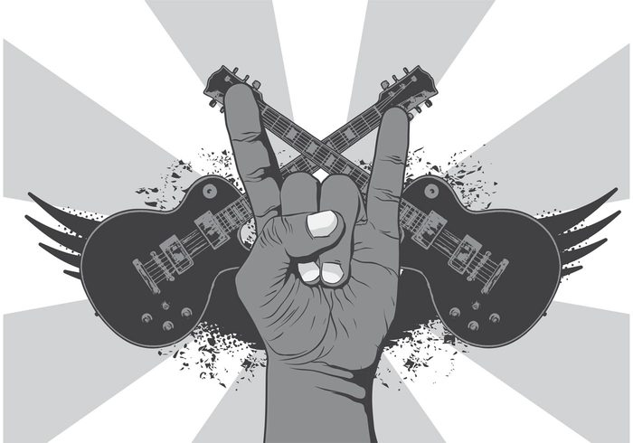 Rock N Roll Music Symbol Vector Background 143432 Welovesolo