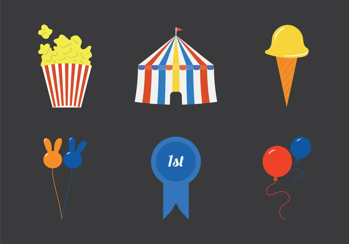 tent popcorn ice cream fun festival fair food fair county fair icon county fair Circus carnival food carnival big top balloon badge