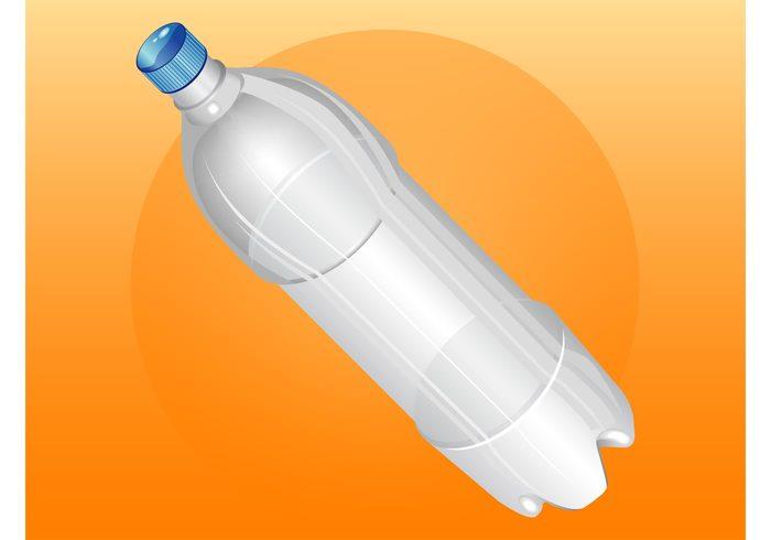template shiny plastic pet packaging Label design drink container cap bottled water bottle vector beverage