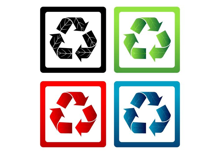 vector symbol reuse recycle organic illustration icons enviroment conservation background