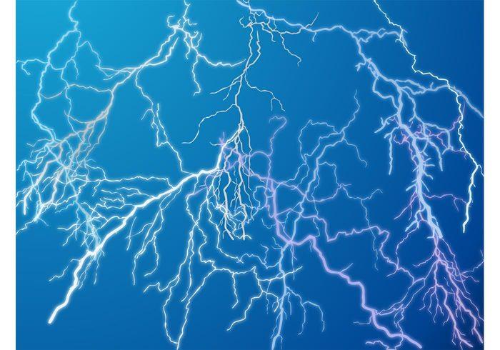weather Thunderbolts storm sky rain nature lightning forecast electricity climate background