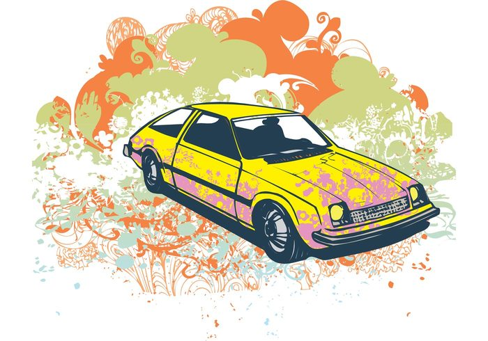 22oos2vcnpcgp21 Grunge retro car vector illustration
