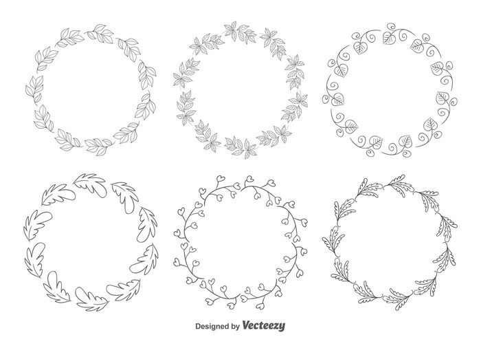 wreath vintage text summer spring sketch silhouette set ribbon retro plant ornate nature modern letter invitation hand drawn frames hand Garland frame set frame flower floral frames floral drawn drawing Design Elements decorative frames decorative clip art classical card blooming Berry beauty beautiful frames background abstract
