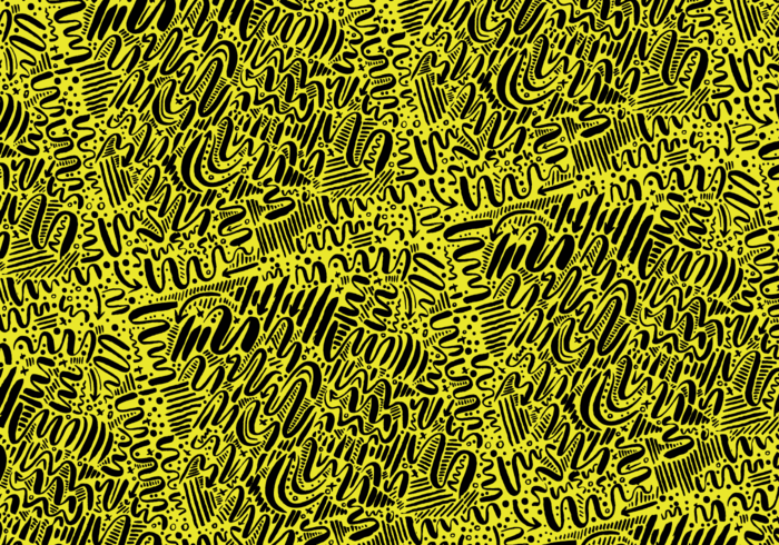 yellow surface design squiggles seamless repeating Pattern design pattern modern lines ink hand drawn pattern hand drawn doodle brush black background abstract pattern abstract