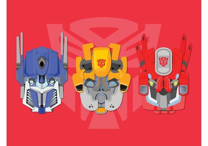 transformers robots movies marvel logo heads Films comics comic books characters background Autobots
