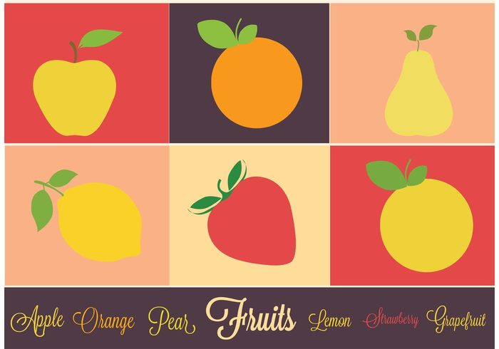 sweet strawberry snack pear orange lemon garden fruits fruit icon fruit fresh food icon food cooking Berry apple