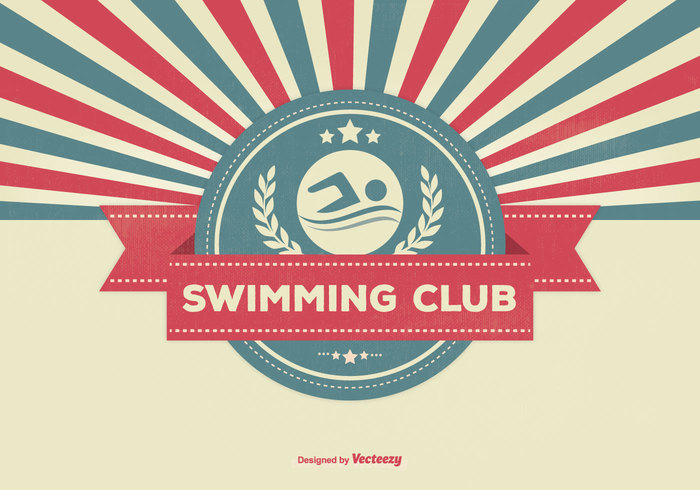 water vintage template symbol swimming club swimming Swimmer swim sunburst style sports sport retro background retro promotional poster old learn graphic elements concept company club poster club card business branding brand Backgrounds background advertising abstract