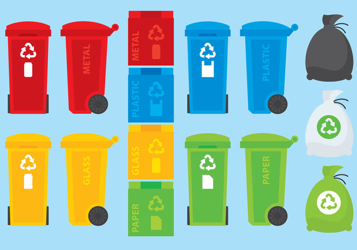 yellow wrap wood wheelie wheel waste vector Tub trash Throw symbol sign separate segregate rubbish rubber reuse refuse red recycling recycle pollution plastic paper Outdoor organic natural management liquid light icon Hazardous Harmful green glass garbage food disposal discard container conserve concept cleanup clean can bulb bottle blue bin battery