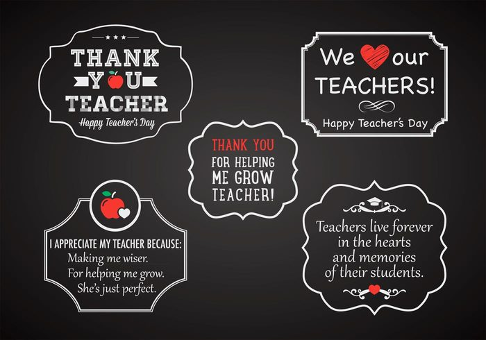 you vintage vector typography thankfulness thank teachers day teacher symbol style student stamp sign set school pupil pencil pen love lecturer knowledge icon heart greetings graphic element decoration day contemporary chalkboard celebrate cap blackboard banner badge art apple academic