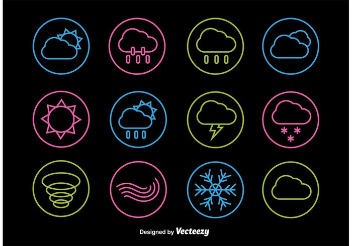 wind web weather vector thin thermometer temperature symbol sunny sun snowflake snow sky sign set rainy rain Overcast night neon moon Meteorology line interface icons icon forecast cloudy cloud climate