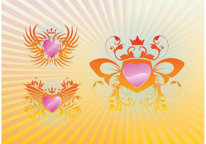 starburst shield royal radiant queen Prince plants medieval luxury luxurious love king heart flowers elegant crown