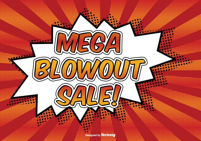 yellow web text template tag store stock sign sale retro red promotion pricetag power poster pop art pop offer message mega market label illustration funny fun explosive explosion explode energy dynamite dotted discounts crazy comic style comic cloud clearance Cartoon style cartoon boom bomb blowout billboard banner background art