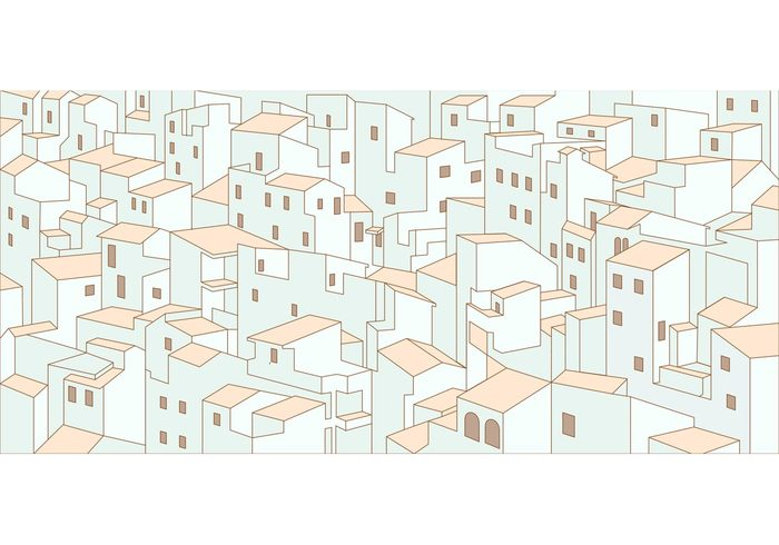 white houses urban landscape shapes roof pattern landscape house pattern house home geometric clutter cityscape city landscape city buildings building pattern background architecture apartment