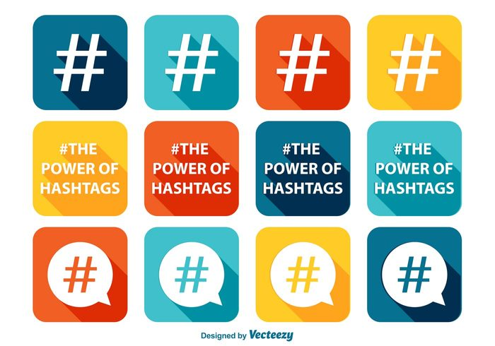 white website web tweet the power of hashtags tag symbol stamp speech social sign shape shadow set seal round quality pink message media mark long logo label internet information icon hashtag icons hashtag hash green graphic geometric follow flat feed diagonal creative concept community colorful icon set circle button bubble blue black badge background art app