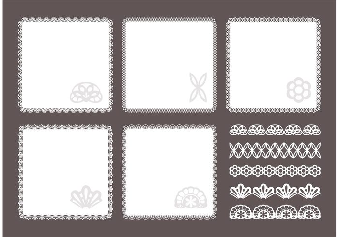 white vintage victorian vector texture template square doily square scrapbooking scrapbook round retro rectangular pattern ornament lace isolated frame element dot doily design decorative decoration cute color classical circle border background