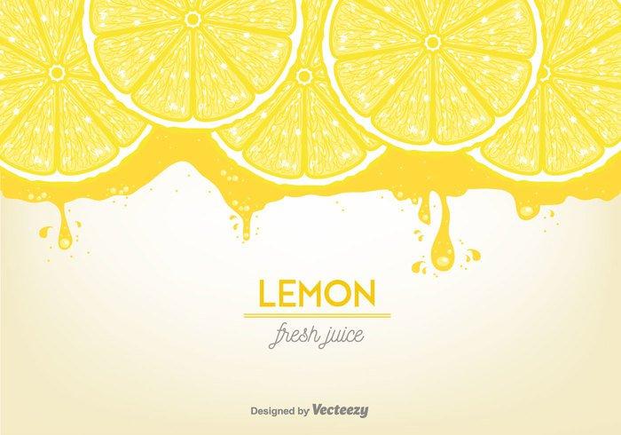 vitamin vector tropical summer splashes slices piece nature lemon slices juicy juice Healthy fruit fresh free flowing drops background