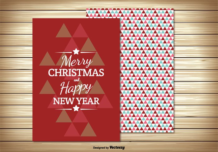 year xmas vintage typographic type tree surprise stylized shape seasonal season retro red present postcard page new year new merry christmas merry label holiday happy greeting gift folded festive dots december 25 curl creative corner concept colorful christmas card christmas cheerful celebration celebrate card background