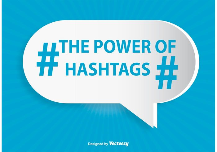 white website web tweet the power of hashtags tag symbol sunburst stamp speech social sign shape shadow seal round retro message media mark label internet information icon hashtag hash green graphic geometric follow flat feed diagonal creative concept community bubble blue background blue black background app