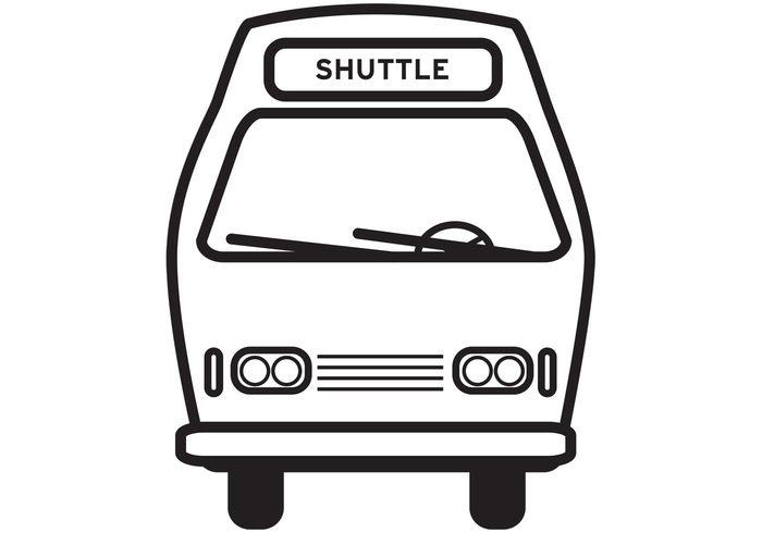 vehicle transportation icon transportation shuttle icon Shuttle Bus public transportation car bus icon bus