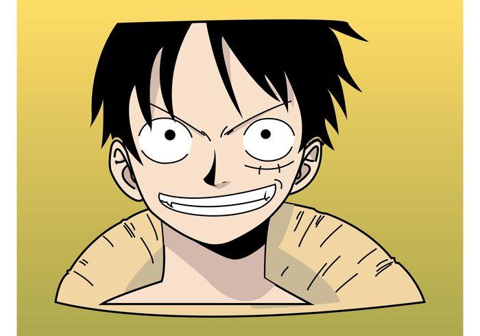Straw hat Smile Protagonist pirate One Piece monkey d luffy manga Japanese freak comic character cartoon Asian Anime