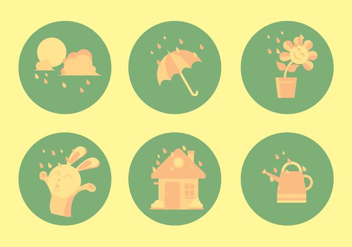 weather icon weather watering pale watering can water umbrella icon umbrella Sunshade spring showers icon spring showers spring shower spring rain shower season rainy raining raindrop rain icon rain potted plant plant happy colorful