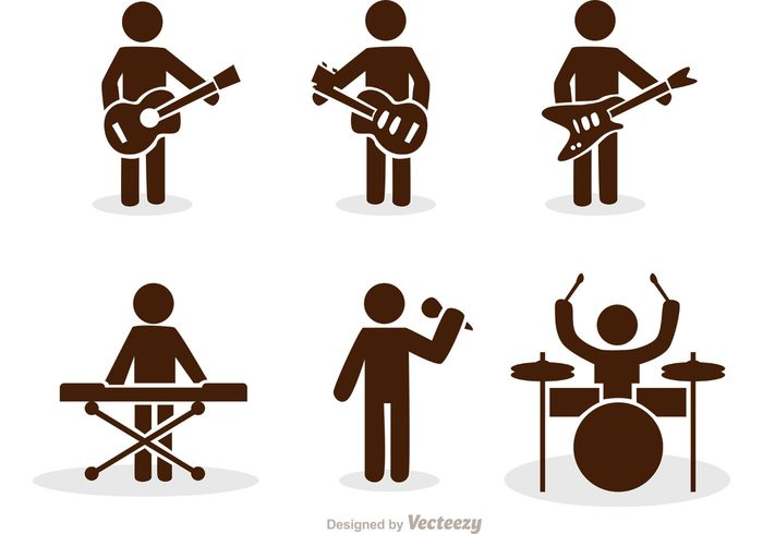 Band Stick Figure Icons Vector Pack 139007 Welovesolo