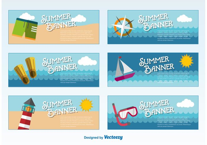 wave water vacation tropical travel tourism tour template tag sunny sun summer seascape sea sand Relaxation paradise ocean nature label island illustration holiday exotic blank beach banner
