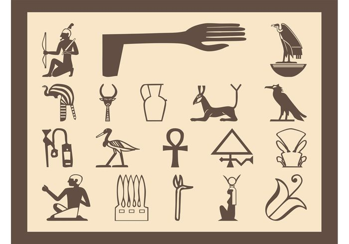 Egyptian Symbols Set Welovesolo