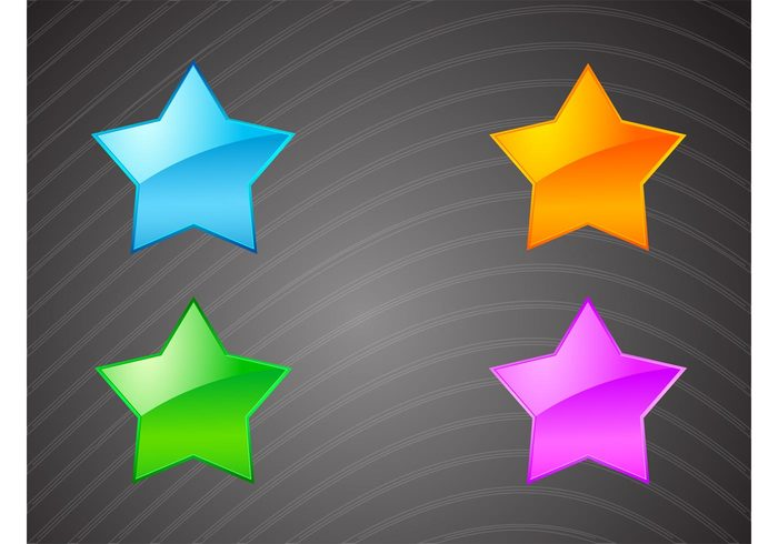 star shiny shape reflection gradient favorite icon famous Fame colorful celebrity bright