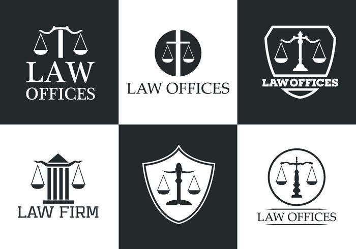 white typography symbol set scales scale police office logo legal lawyer law offices law office Law Justice Jury Judgment judge isolated illustration icons Firm Equality Decision Criminal crime court Balance attorney