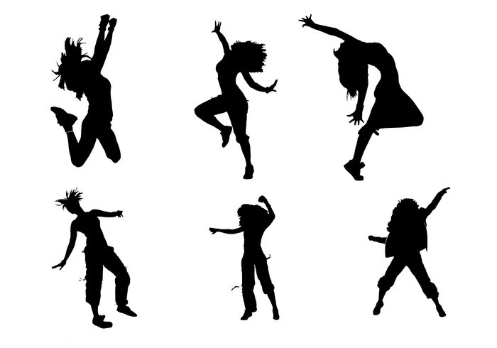 zumba young women win white walk vector success slim silhouette shape sexy set pretty people orange nice Move motion model jump isolated illustration happy girl female Diet color cap body black beauty beautiful background Adult active action