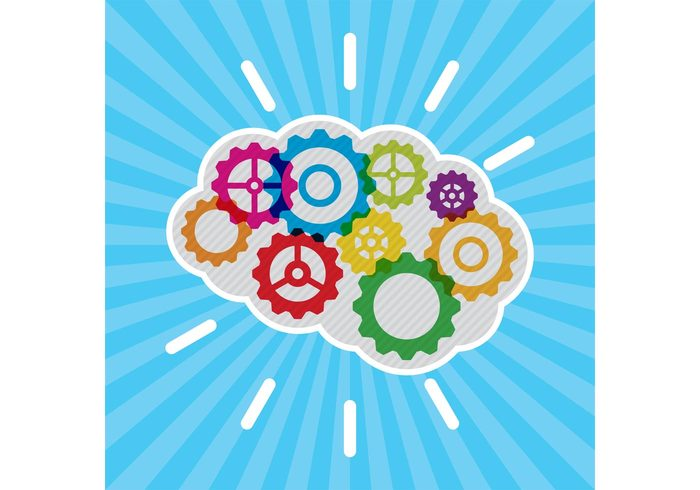 vector thought technology symbol success space solution science power modern lightbulb learning knowledge imagination illustration Idea icon graphic gear elements education design creativity creative cover Cord copy Conceptual concept colorful business Brainstorm brain background abstract
