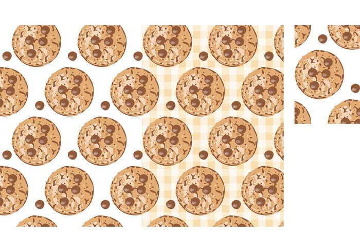 yummy white wallpaper vector texture teatime sweet snack seamless round pattern pastry menu isolated illustration graphic food drawing dessert delicious decorative crunchy crumb Cookie chocolate chip cookies chocolate chip cake brown breakfast Biscuit biscotti bakery bake background appetizing