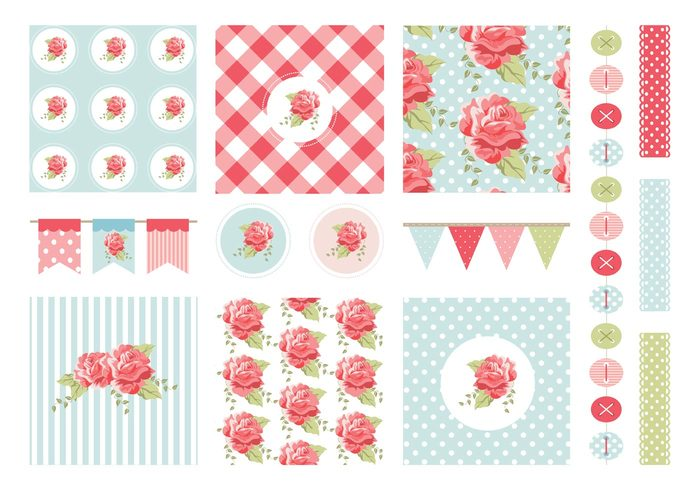 vintage vector texture stripe stationary spring shabby chic shabby set seamless scrapbook scrap-booking scrap rose romantic retro print polka dot pattern paper love lace Garland garden flower floral fabric english rose element elegant design decoration collection chic button border blossom bloom background