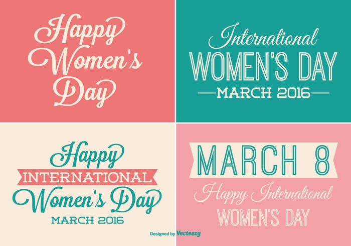 womens day women's women womans day woman vintage vector typography typographic type title text symbol sign set sale retro pink party mother march 8 March love logotype labels label set label international icon holidays greeting font feminine element day date celebration cards card badge background
