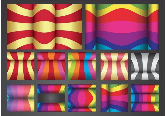 retro psychedelic Footage curves curved Colour colors colorful color background backdrop