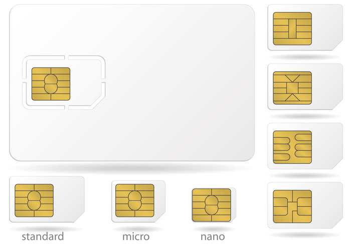 wireless white vector template telephone Telecommunications technology talk smart small Single simcard sim set prepaid phone object number network nano Mobility mobile microchip micro isolated internet illustration icon Gsm gold global equipment electronic digital contact connection connect communication chip cellular cellphone cell card call blank background
