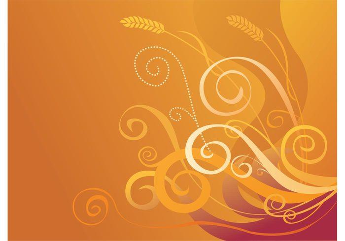 wheat wallpaper tree wallpaper swirls presentation plant orange gold crop background Asian