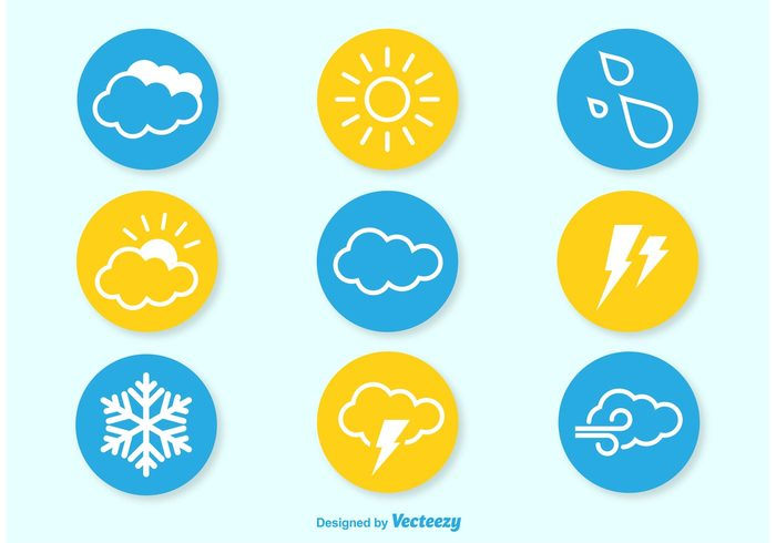wind weather thermometer temperature symbol sunny sun storm snowflake snow sky sign set season rainy rain night nature moon Meteorology interface icon forecast flat cold cloudy cloud climate clear