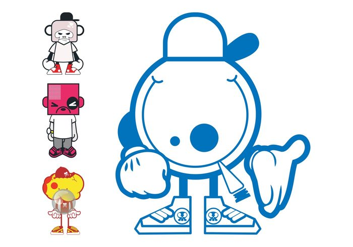 square smoke Smile monkey mascots mascot happy Grumpy comic cigarette characters character cartoon Bubblegum bubble animal angry